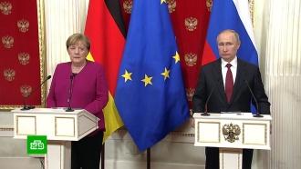 Меркель призвала завершить строительство «Северного потока— 2»