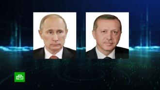 Путин по телефону рассказал Эрдогану о переговорах с Меркель
