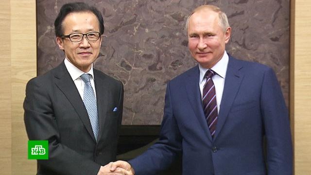 Путин провел переговоры сгенсекретарем Совбеза Японии.дипломатия, Московская область, Путин, Япония, переговоры.НТВ.Ru: новости, видео, программы телеканала НТВ