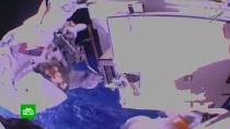 Второй в истории выход двух женщин в открытый космос отметился курьезом.МКС, космонавтика, космос, курьезы.НТВ.Ru: новости, видео, программы телеканала НТВ