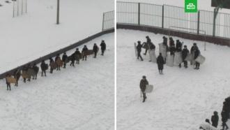 В пермской школе нашли виновных в детских учениях по борьбе с протестующими