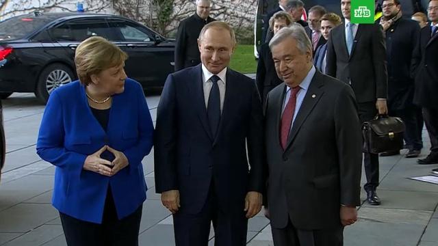 Путин и Меркель по-русски обсудили генсека ООН.Германия, Ливия, войны и вооруженные конфликты, переговоры, Меркель, Путин.НТВ.Ru: новости, видео, программы телеканала НТВ