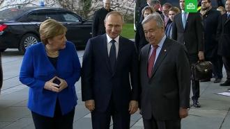 Путин и Меркель по-русски обсудили генсека ООН