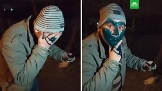 Украинский таксист заставил клиента умыться зеленкой