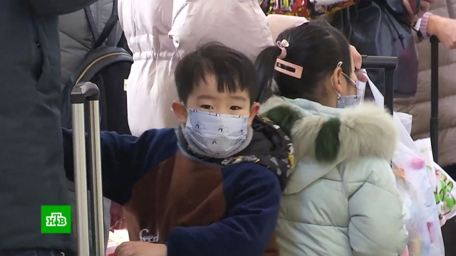 Китайский коронавирус передается от человека к человеку.Китай, болезни, здоровье, эпидемия.НТВ.Ru: новости, видео, программы телеканала НТВ