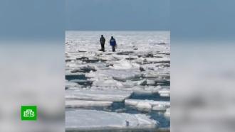 На Сахалине спасли всех застрявших на льдине рыбаков
