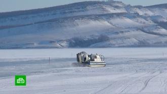 ВКрасноярском крае начали возводить ледовые переправы