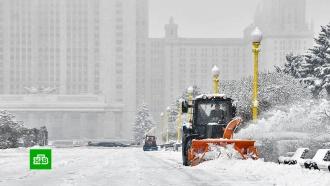 В Москве устраняют последствия ночного снегопада