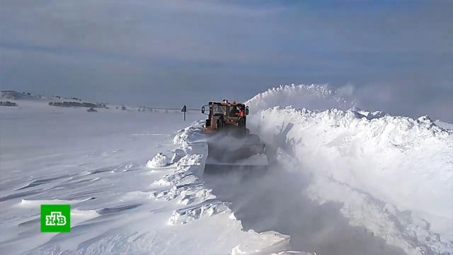 Продукты вотрезанные непогодой алтайские поселки доставят на снегоходах.Алтайский край, зима, погода, снег.НТВ.Ru: новости, видео, программы телеканала НТВ