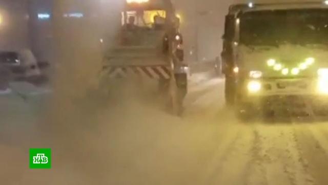 На Сахалине из-за метели закрыли школы ипрервали авиасообщение сКурилами.Курилы, Сахалин, метель, погода.НТВ.Ru: новости, видео, программы телеканала НТВ