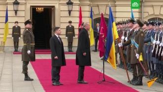 Эрдоган приветствовал почетный караул в Киеве словами «Слава Украине!»