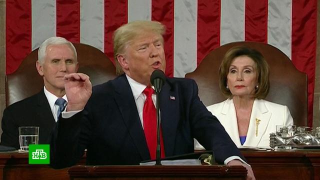 Трамп устроил шоу из ежегодного послания Конгрессу.выборы, парламенты, скандалы, США, Трамп Дональд.НТВ.Ru: новости, видео, программы телеканала НТВ