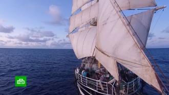 Экспедиция кЮжному полюсу: парусник «Крузенштерн» покинул столицу Уругвая