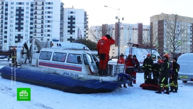 Петербургские спасатели ищут тело провалившейся под лед школьницы.МЧС, Санкт-Петербург, несчастные случаи, поисковые операции, реки и озера.НТВ.Ru: новости, видео, программы телеканала НТВ