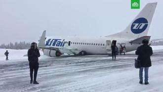 Пассажирский самолет сел на «брюхо» в аэропорту Коми