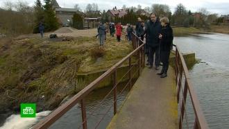 Под Калининградом бизнесмен отгородил мост от местных жителей