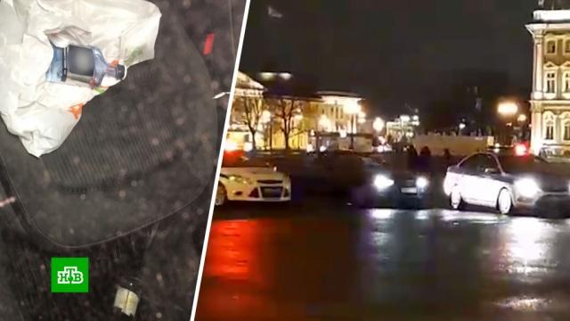 Пьяный лихач на черной Audi устроил гонки на Дворцовой площади.Санкт-Петербург, автомобили, погоня, пьяные, штрафы.НТВ.Ru: новости, видео, программы телеканала НТВ