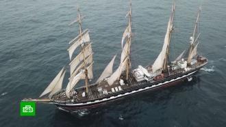 Российский парусник «Крузенштерн» приближается кберегам Аргентины