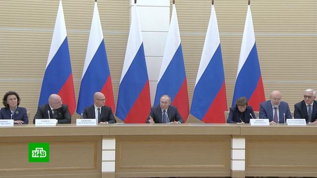 «Лазейки управительства уже не будет»: Путин— об индексации пенсий изарплат.Путин, законодательство, зарплаты, конституции, пенсии.НТВ.Ru: новости, видео, программы телеканала НТВ