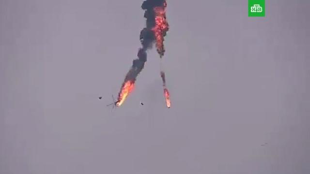 ВАлеппо сбили сирийский вертолет.Сирия, вертолеты, войны и вооруженные конфликты.НТВ.Ru: новости, видео, программы телеканала НТВ