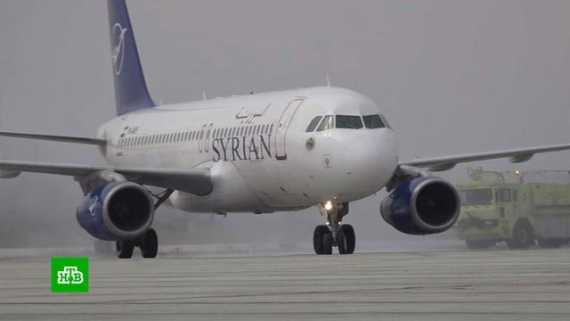 ВАлеппо приземлился первый за 8лет пассажирский самолет.Сирия, аэропорты, войны и вооруженные конфликты, самолеты.НТВ.Ru: новости, видео, программы телеканала НТВ