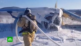 Самолет <nobr>Ан-2</nobr> совершил жесткую посадку вМагадане