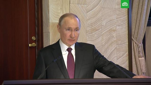 Путин призвал обеспечить контроль за средствами для нацпроектов.Путин, ФСБ, нацпроекты.НТВ.Ru: новости, видео, программы телеканала НТВ