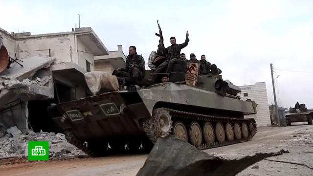 Из Турции вИдлиб идут многокилометровые колонны военной техники.США, Сирия, Турция, войны и вооруженные конфликты, вооружение.НТВ.Ru: новости, видео, программы телеканала НТВ