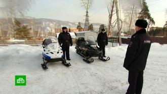 ВКрасноярском крае патрули на снегоходах преследуют нарушителей