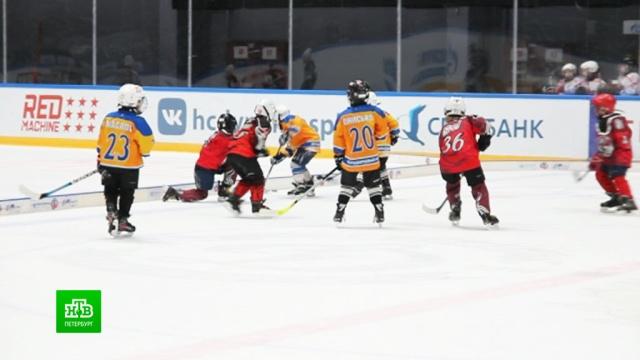 Юные хоккеисты вышли на петербургский лед вчесть 23Февраля.Санкт-Петербург, дети и подростки, спорт, торжества и праздники, хоккей.НТВ.Ru: новости, видео, программы телеканала НТВ