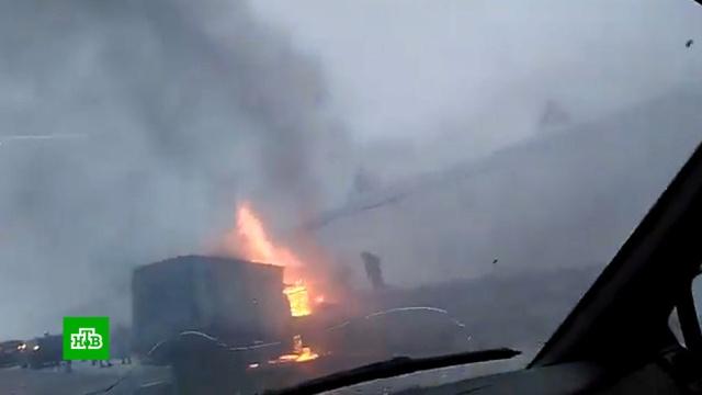 Огненное ДТП в Кузбассе: при столкновении минивэна с «Газелью» погибли 5 человек.ДТП, Кемеровская область.НТВ.Ru: новости, видео, программы телеканала НТВ