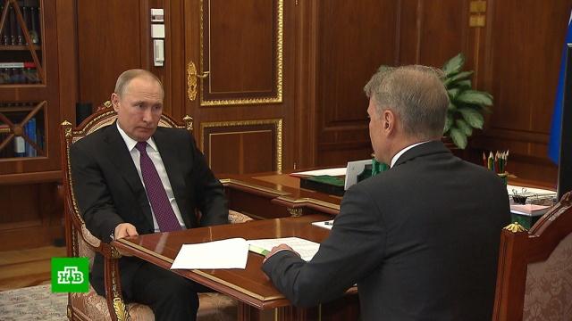 Греф рассказал Путину о суперсовременной IT-платформе «Сбербанка».Греф, Интернет, Путин, Сбербанк, банки, технологии.НТВ.Ru: новости, видео, программы телеканала НТВ