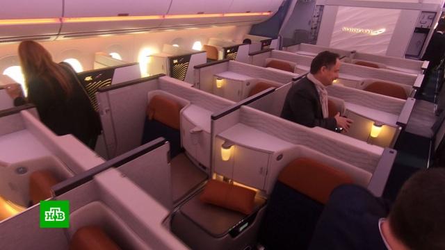 Новый Airbus «Аэрофлота» изнутри.Airbus, аэропорты, Аэрофлот, самолеты, Франция.НТВ.Ru: новости, видео, программы телеканала НТВ
