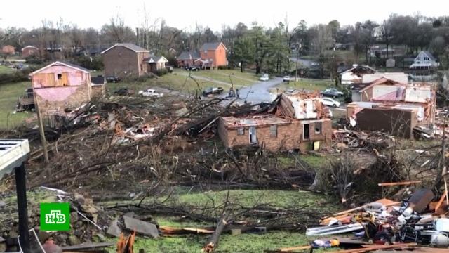 Жертвами торнадо в Теннесси стали 25 человек.США, стихийные бедствия, штормы и ураганы.НТВ.Ru: новости, видео, программы телеканала НТВ