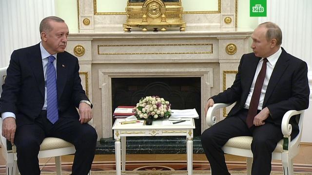 Путин предложил Эрдогану «проговорить» ситуацию вИдлибе.Путин, Сирия, Турция, Эрдоган, войны и вооруженные конфликты, переговоры.НТВ.Ru: новости, видео, программы телеканала НТВ