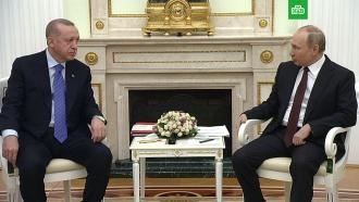 Путин предложил Эрдогану «проговорить» ситуацию вИдлибе