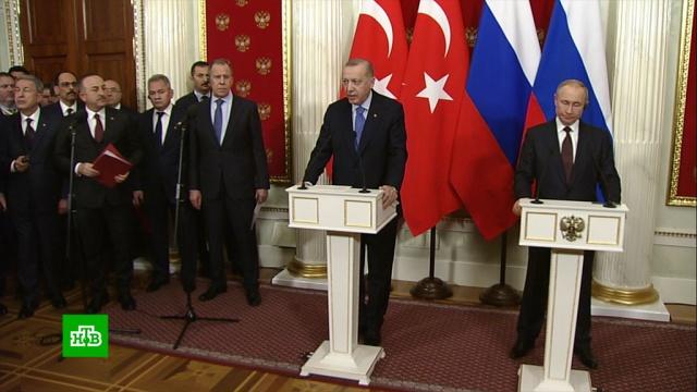 Прекращение огня вИдлибе икоридор безопасности: очем договорились Путин иЭрдоган.Путин, Сирия, Турция, Эрдоган, войны и вооруженные конфликты, переговоры.НТВ.Ru: новости, видео, программы телеканала НТВ