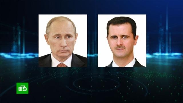 Путин сообщил Асаду об итогах переговоров сЭрдоганом.Асад, Путин, Сирия, Турция, Эрдоган, войны и вооруженные конфликты, переговоры.НТВ.Ru: новости, видео, программы телеканала НТВ