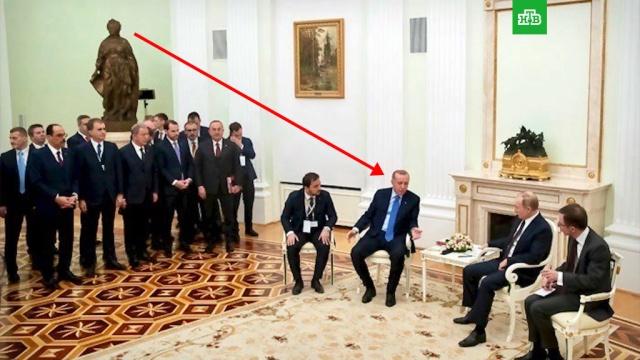 На переговорах сПутиным Эрдогану сделали грозный намек.Асад, Путин, Сирия, Турция, Эрдоган, войны и вооруженные конфликты, переговоры.НТВ.Ru: новости, видео, программы телеканала НТВ