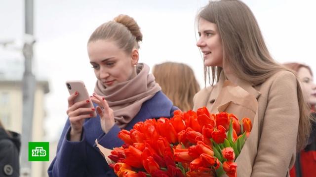 Температура вМоскве 8Марта побила рекорд тепла.8 Марта, Москва, весна, погода, погодные аномалии, рекорды.НТВ.Ru: новости, видео, программы телеканала НТВ