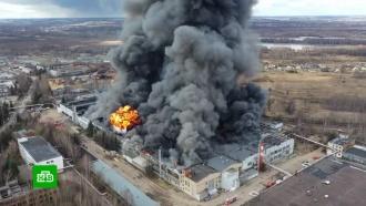 Крупный пожар на складе в Подмосковье локализован