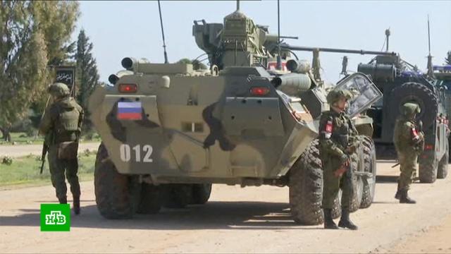 Российские военные патрулируют сирийские города вместе стурецкими коллегами.Сирия, армии мира, армия и флот РФ, войны и вооруженные конфликты.НТВ.Ru: новости, видео, программы телеканала НТВ
