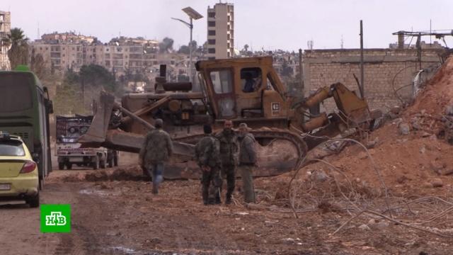 Впромышленном районе Алеппо начали восстанавливать фабрики изаводы.Сирия, войны и вооруженные конфликты, промышленность.НТВ.Ru: новости, видео, программы телеканала НТВ