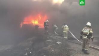 Крупный пожар вРостовской области: погиб пожарный