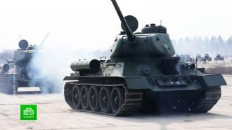 Отреставрированные вПетербурге <nobr>Т-34</nobr> начали тренировки кПараду Победы