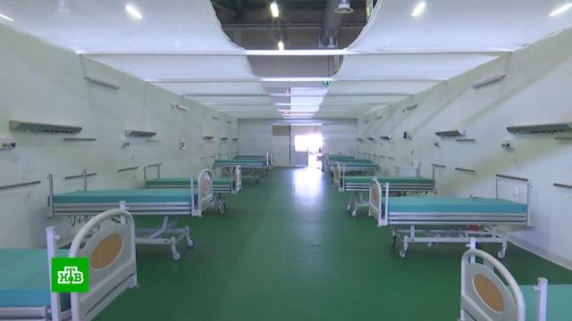 Российские военные начали оснащать полевой госпиталь в Бергамо.Италия, армия и флот РФ, болезни, больницы, коронавирус, эпидемия.НТВ.Ru: новости, видео, программы телеканала НТВ