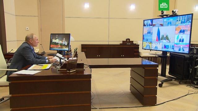 Путин впервые провел онлайн-совещание с правительством.Президент России Владимир Путин сегодня впервые провел совещание с членами правительства в дистанционном формате.болезни, коронавирус, правительство РФ, Путин, эпидемия.НТВ.Ru: новости, видео, программы телеканала НТВ