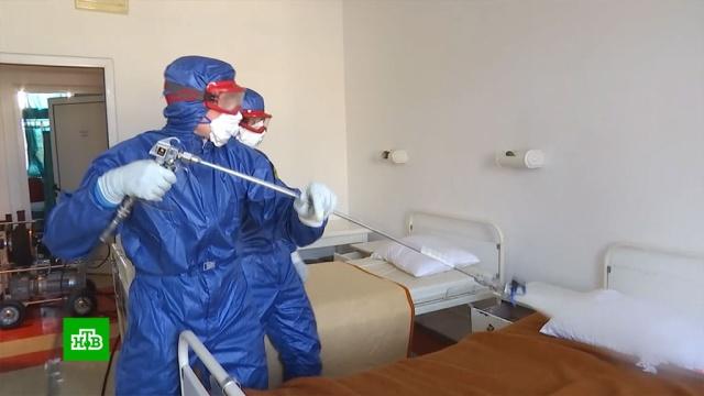Российские специалисты дезинфицируют больницы вСербии ипринимают пациентов вИталии.Италия, Сербия, болезни, гуманитарная помощь, коронавирус, медицина, эпидемия.НТВ.Ru: новости, видео, программы телеканала НТВ