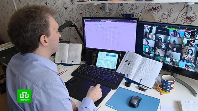 Школа онлайн: вПетербурге учителя привыкают вести уроки по Интернету.Интернет, Санкт-Петербург, коронавирус, образование, школы, эпидемия.НТВ.Ru: новости, видео, программы телеканала НТВ