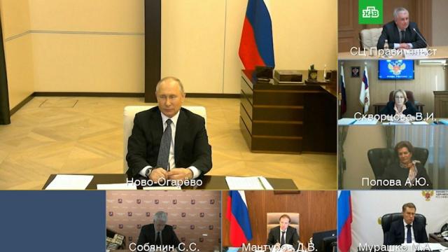 Путин обсудил сэкспертами возможность сокращения нерабочих дней.Путин, болезни, коронавирус, эпидемия.НТВ.Ru: новости, видео, программы телеканала НТВ